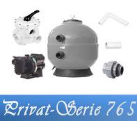 Bausatz Filteranlage Privat Serie D765 Fiberplast mit Filterpumpe Sta-Rite
