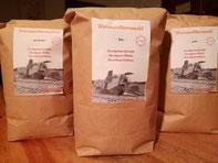 Frisch gemahlen und abgepackt - unser Weizenvollkornmehl
