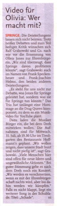 Deister Anzeiger, 26.07.2013