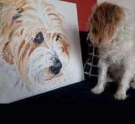 Tiermalerei, gemalte Tierportraits nach Fotovorlage, Tiere zeichnen lassen