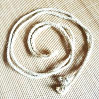 Seil geformt zu Spirale: Kreativität,  kreativ sein; Naturmaterial Spielmaterial