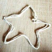 Seil geformt zu Stern: Inspiration inspirieren, Naturmaterial Spielmaterial