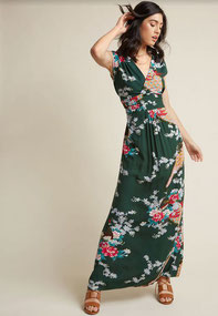 Feeling Serene Maxi Dress in Forest Green