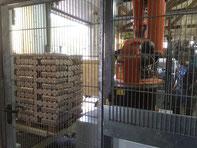 Projekt Palettieranlage für Holzbriketts mit Kuka Roboter