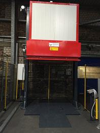 Gasbetriebene Haubenschrumpfanlage für Paletten bis 1200 x 1200 x 2000 mm
