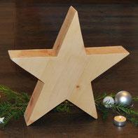 Stern aus Zirbenholz