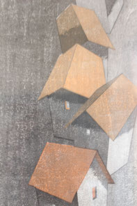 正面右の作品 「家並」 (2013年)