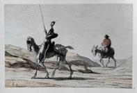 ドーミエ絵「ドン・キホーテとサンチョ・パンサ」