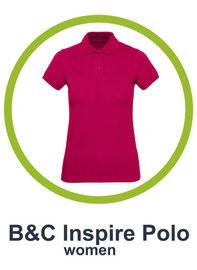 B&C inspire polo women bedrucken