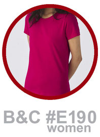 T-Shirt B&C #E190 women bedrucken