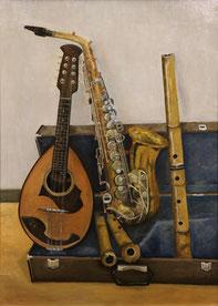 楽器(和・洋)(油彩・P30)