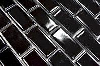 mosaico ceramica a mattoncini colore nero lucido
