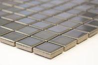 mosaico ceramica colore grigio