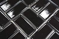 mosaico in ceramica colore nero lucido