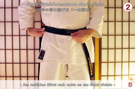 Karate Erlach, Karate-Gürtelbindeanleitung, Ippon-Jime