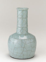 Zhichui ping; 'Mallet-shaped' vase (Guan ware, Song dynasty)