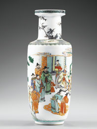 Bangchui ping; 'Rouleau' vase (Qing dynasty)