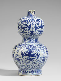 Hulu ping; 'Double-gourd' vase (Ming dynasty)