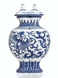 Shuanglian ping; 'Double' vase (Qing dynasty)