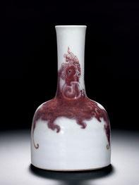 Yaoling zun; 'Mallet-shaped' vase (Qing dynasty)
