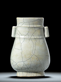 Hu; 'Hu-shaped' vase (Qing dynasty)