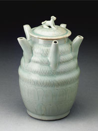 Wukou ping; 'Five-spouted' jar (Longquan ware, Song dynasty)