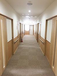 床暖でいつでも暖かい廊下