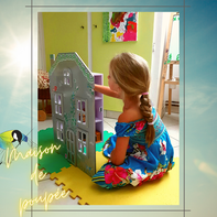 Avec presque rien, maison de poupée, Sciez, Thonon, Haute- savoie, Leman, recyclage, rénovation d'objet