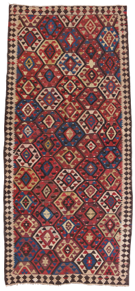 Kelim Teppich. Zürich. Semi-antique Shahsavan Kelim, antique and nomad rug, tapis et kilims nomades, Zurich Suisse, www.kilimmesoftly.ch