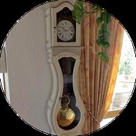 Horloge comtoise repeinte - Grésivaudan