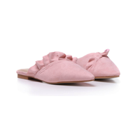 Slide On Pink Ruffle Loafer  NOW £14  with code HOT30