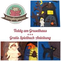 Quiet book Spielbuch Filzbuch Anleitung Freebook Teddy