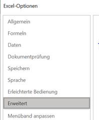 Excel Scrollbalken weg