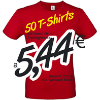 50 T-Shirts bedrucken