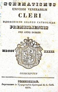 Schematismus Premisliensis 1839 lemko.pl