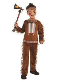 Kostüm Junge Indianer mit Tomahawk