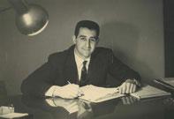 Mario Misischia in seinem Büro (1967)