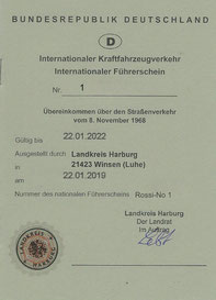 Internationaler Führerschein Bundesrepublik Deutschland