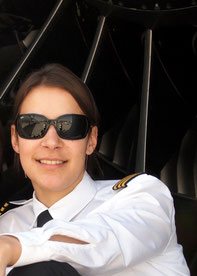 Carolin Schmid is Senior First Officer at freight carrier AeroLogic  -  photo: private