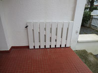 Fabrication et pose d'une barrière