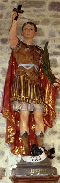 Statue de Saint Expedit Eglise de Tourville sur Sienne Manche