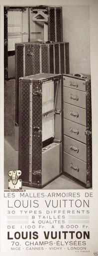malles armoires Louis vuitton de luxe