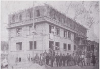 Bau der Fabrik um 1911