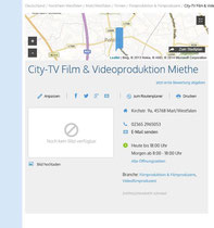 Nicht nur der Youtubekanal vertritt City-TV im Netz