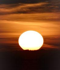 gestern Sonnenuntergang am Atlantik
