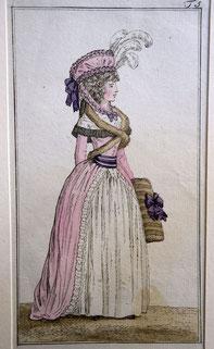 1790, Journal des Luxus und der Moden, Rokoko Kleid Robe à l'Anglaise, Foto: Nina Möller