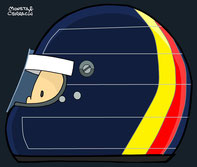 Helmet of Heinz-Harald Frentzen by Muneta & Cerracín