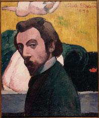 Émile Bernard, Autoportrait, 1890, huile sur toile, collection musée des beaux-arts de Brest.