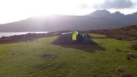 Trauhafter Schlafplatz am Loch Slapin