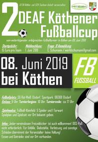 Plakat 2. DEAF Köthener Fußballcup